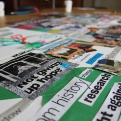 Collage close-up