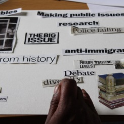Geraldine 'doing' collage