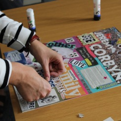 Sarah's collage in progress