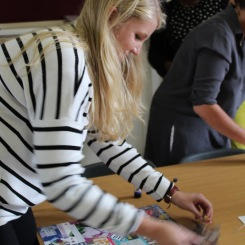 Sarah 'doing' collage