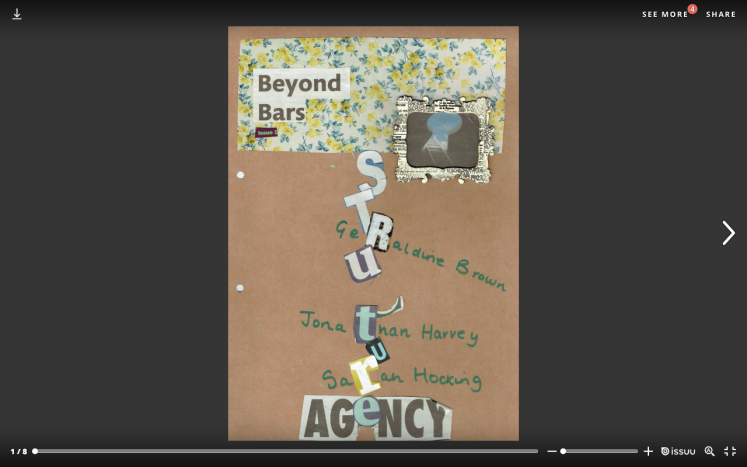 Beyond Bars Zine by Geraldine Brown, Jonathan Harvey, and Sarah Hocking