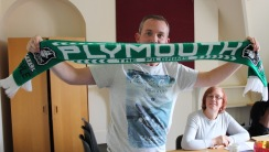 Jon and his Plymouth Argyle scarf