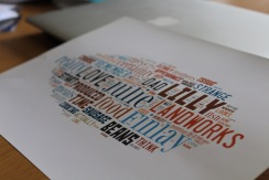 Word-cloud close-up