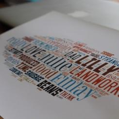 Word-cloud close-up
