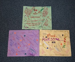Geraldine's Collages produced by young mothers